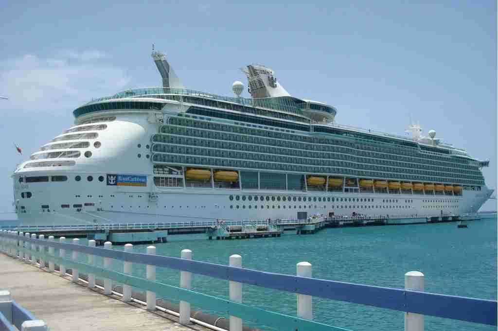 A Cruise Ship Docked in The Caribbean
