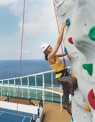 On board rock climbing